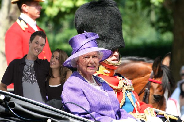 The Queen with Guard